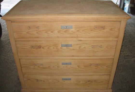 Sandblasting a drawer
